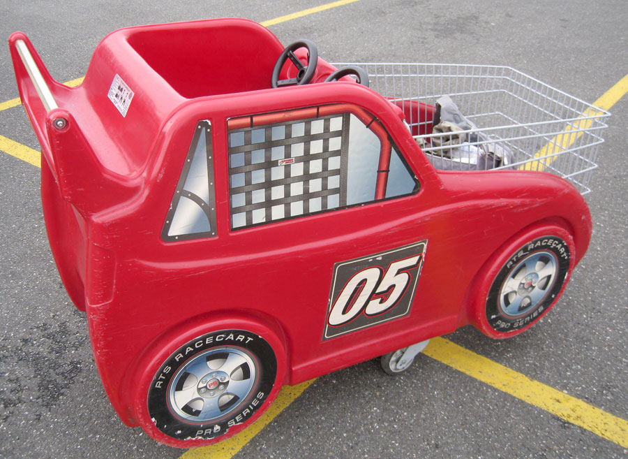 race-car-shopping-cart